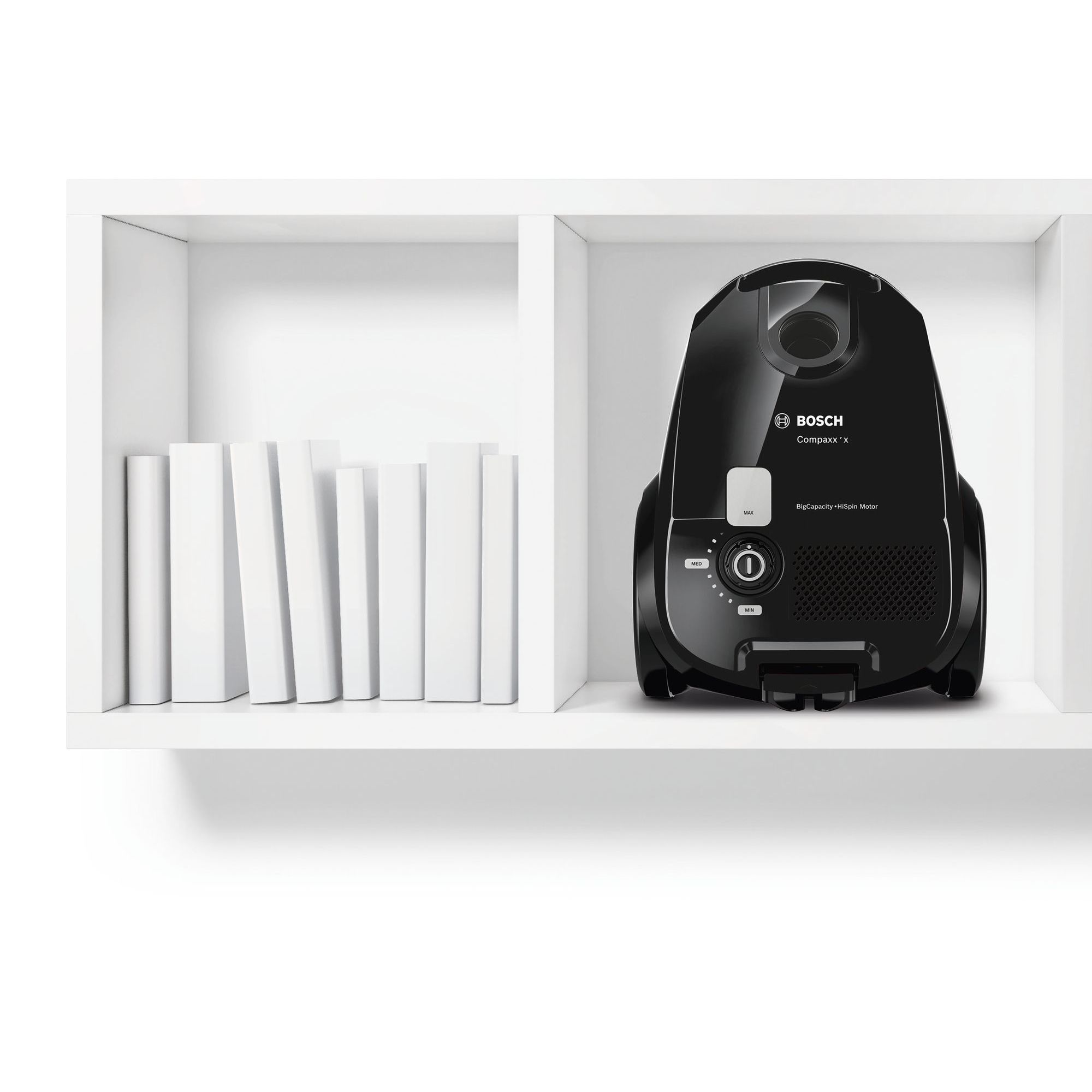 Bosch porzsákos porszívó Compaxx'x Fekete boschalkatreszek.hu